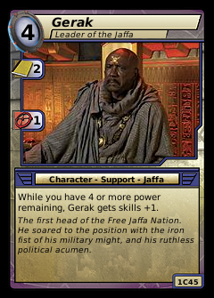 Gerak, Leader of the Jaffa
