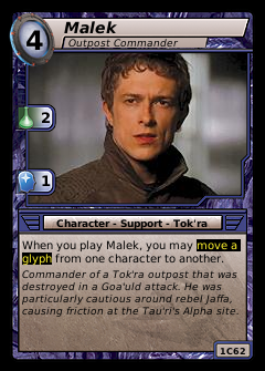 Malek, Outpost Commander