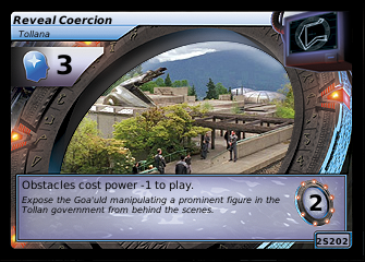 Reveal Coercion, Tollana