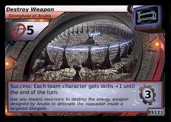 Destroy Weapon, Stronghold of Anubis